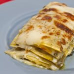 Lasagne vegetariane con peperoni, melanzane e zucchine