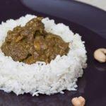 spezzatino con manzo al curry con riso basmati