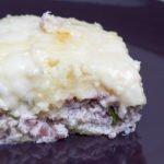 Gateau di patate con speck e gorgonzola