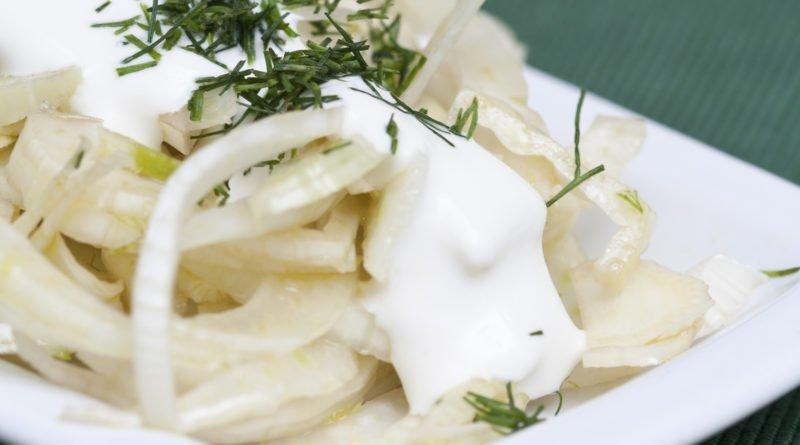 insalata di finocchi con sour cream