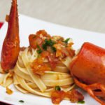 Le linguine all'astice impiattate