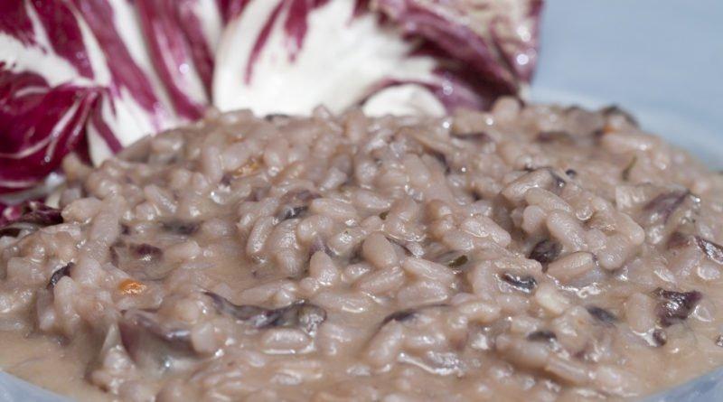 risotto con radicchio e scamorza