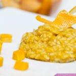 risotto con zucca e arancia