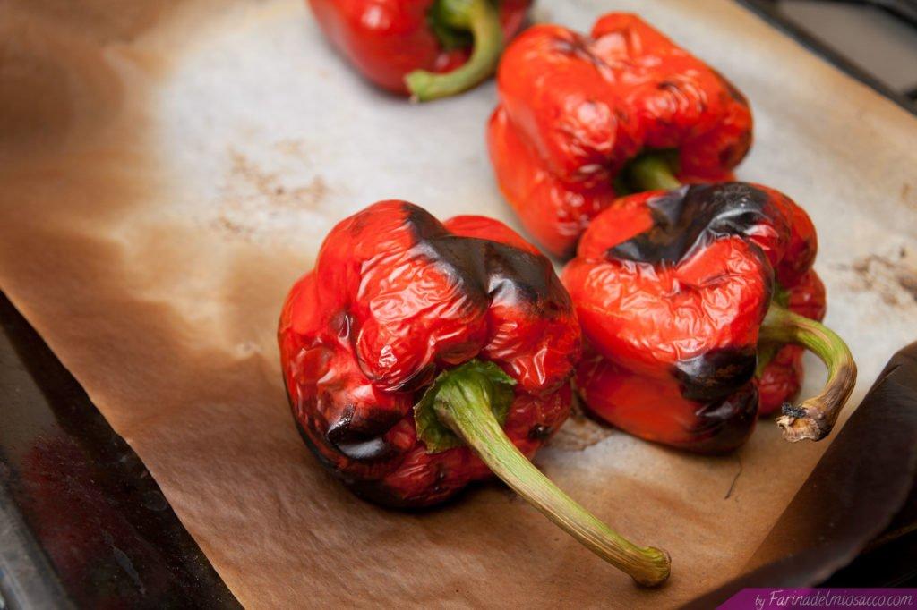 Estraiamo i peperoni dal forno