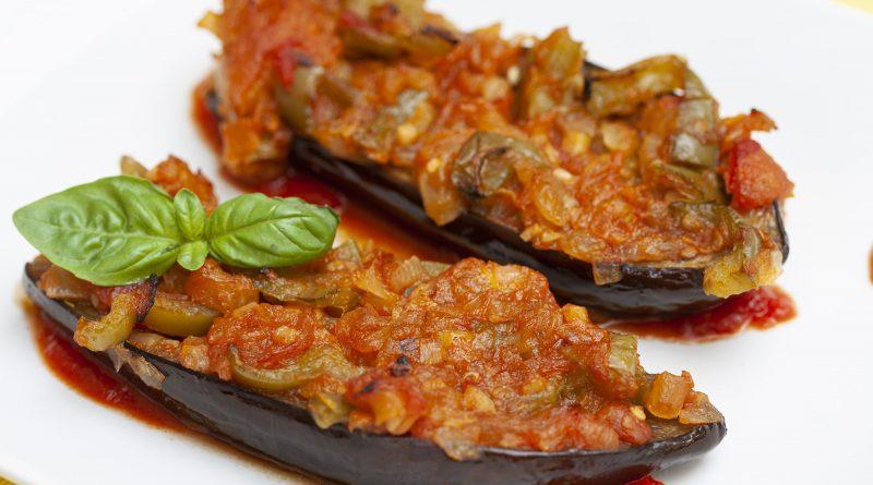 melanzane al forno ripiene di verdure