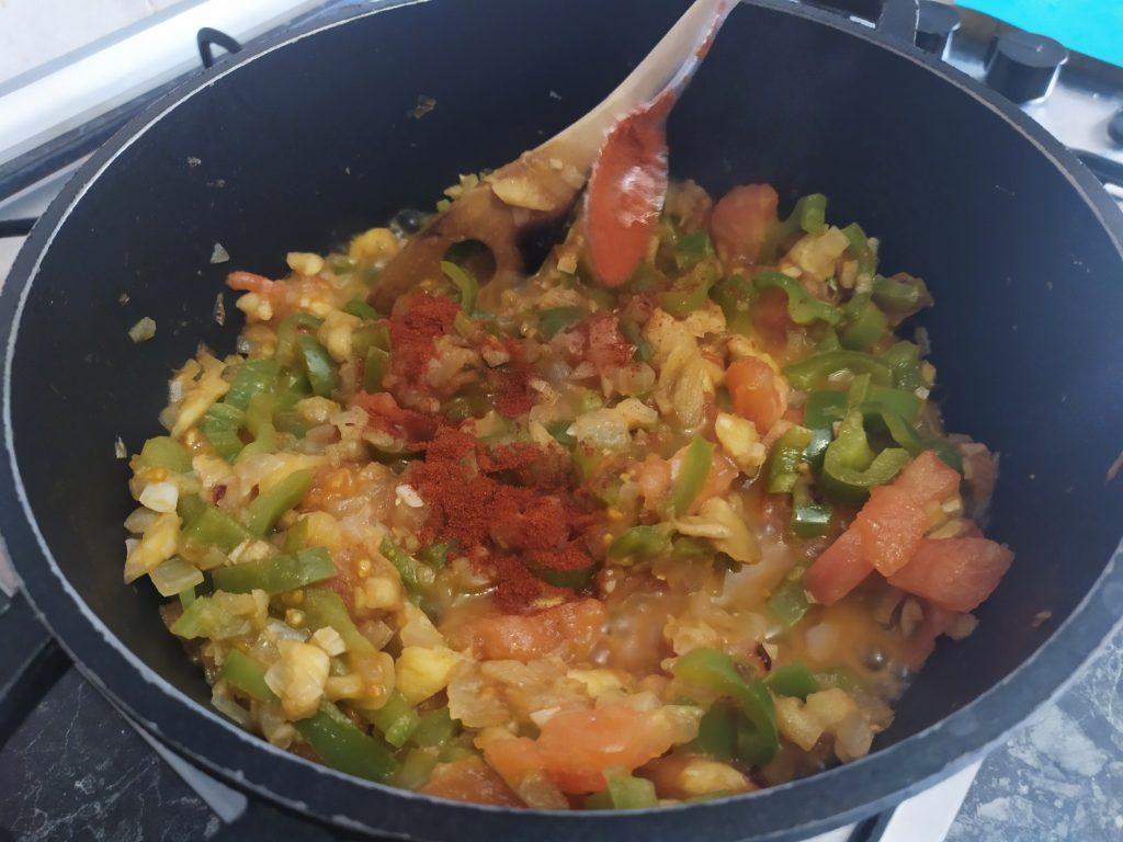 verdure per il ripieno e paprika
