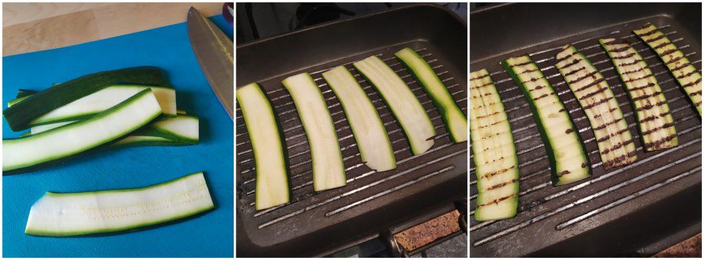 Affettare e grigliare la zucchina