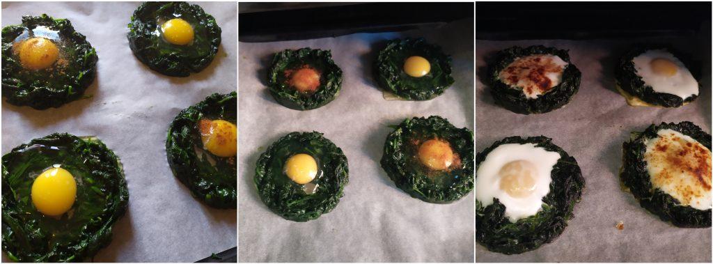 Cuocere in forno i cestini di spinaci e uova