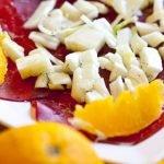 Bresaola con insalata di finocchi e arancia