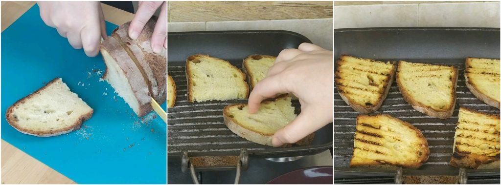 Affettare e abbrustolire il pane di Altamura