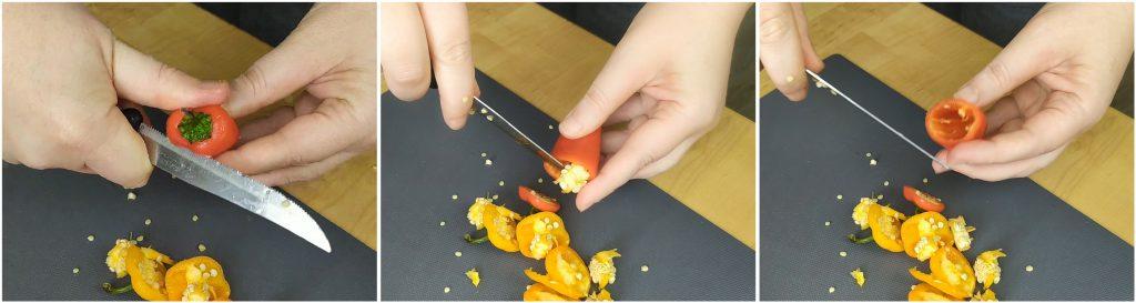 Pulire i peperoncini dolci