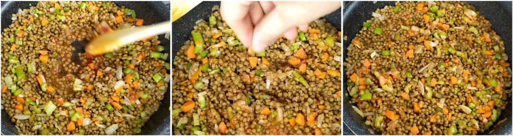 Condire e cuocere le lenticchie per il cotechino