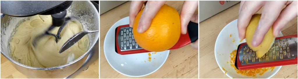 Grattugiare la scorza di un'arancia e di un limone