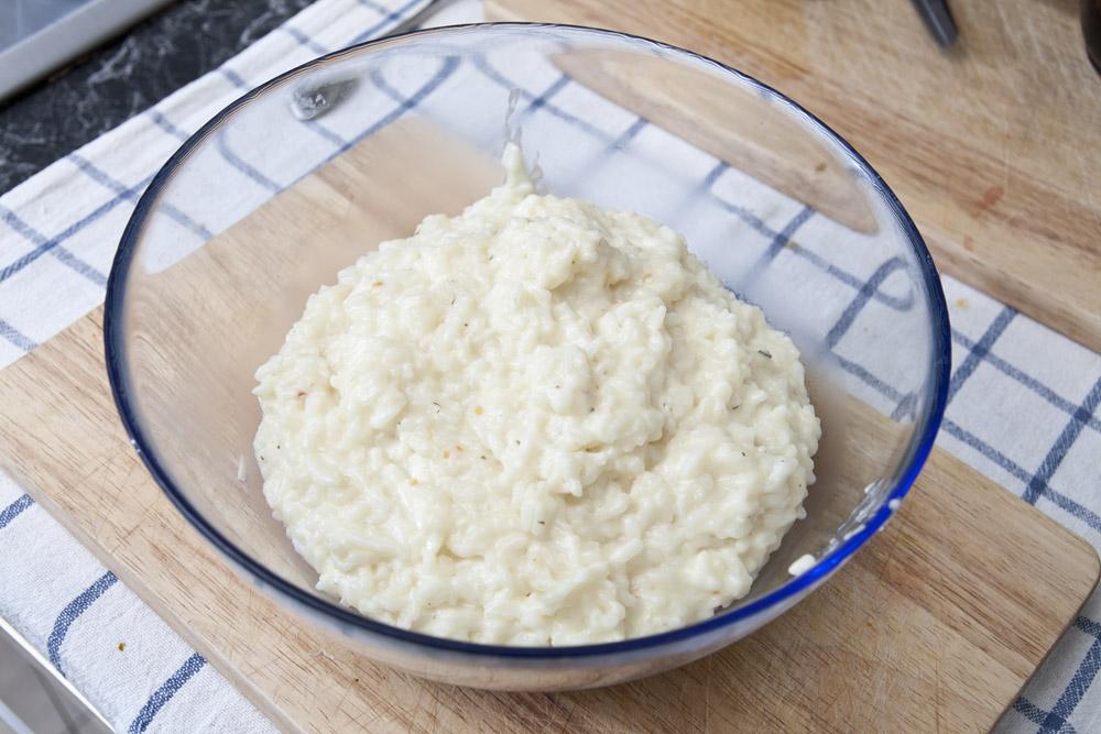 Lasciar raffreddare il risotto al taleggio
