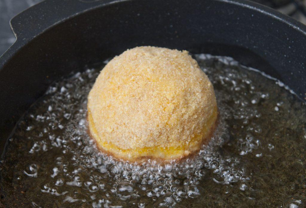friggere gli arancini di riso
