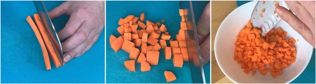 Sminuzzare una carota
