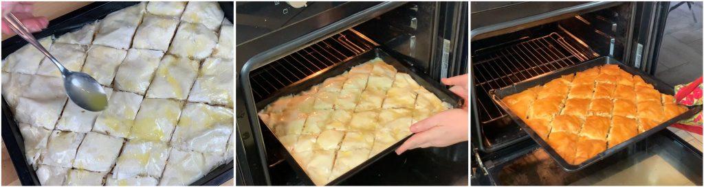 Cuocere il baklava in forno.