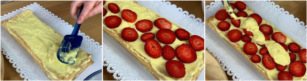 Farcire con crema pasticcera e fragole