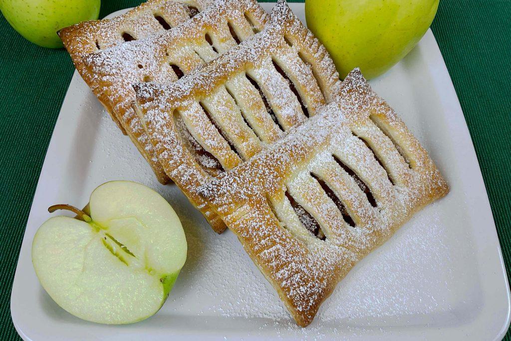 Sfogliatine di mele con pasta sfoglia pronta